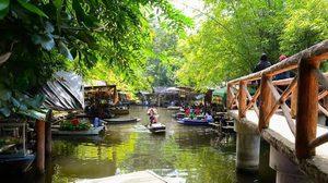 """""""ตลาดน้ำกวางโจว"""" จ.เพชรบุรี ตลาดน้ำบนน้ำตก แห่งแรกและแห่งเดียวในเมืองไทย!"""
