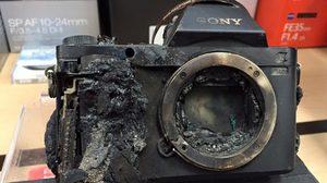 ตากล้องดวงซวย ทำกล้องตกไปในลาวาเดือดๆ จนกล้องเป็นแบบนี้!