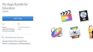 Apple มัดรวม Final Cut Pro, Logic Pro, Motion, Compressor และ MainStage ราคา $199 สำหรับนักศึกษา