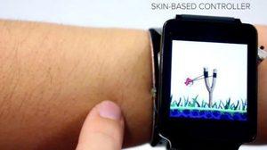 SkinTrack แก้ปัญหาหน้าจอจิ๋วๆ บน Smartwatch ให้ใช้งานบนหน้าแขน