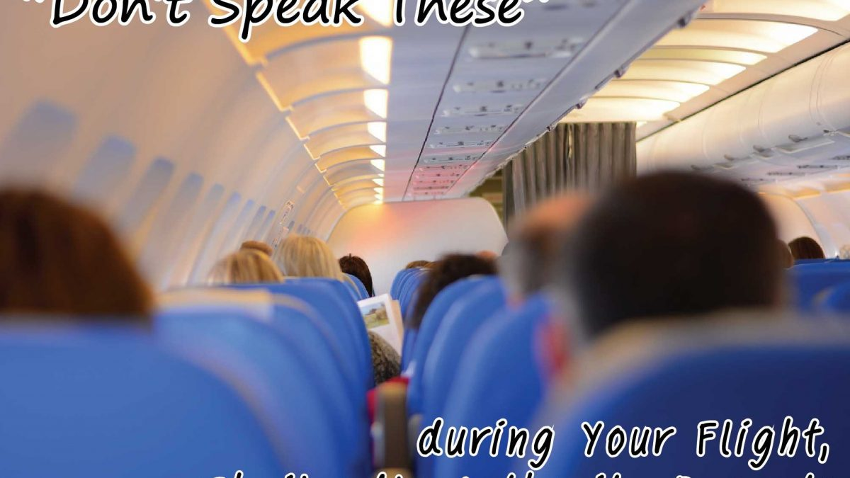 """Don't Speak These"" during Your Flight, Thailand's Authority Repeats"