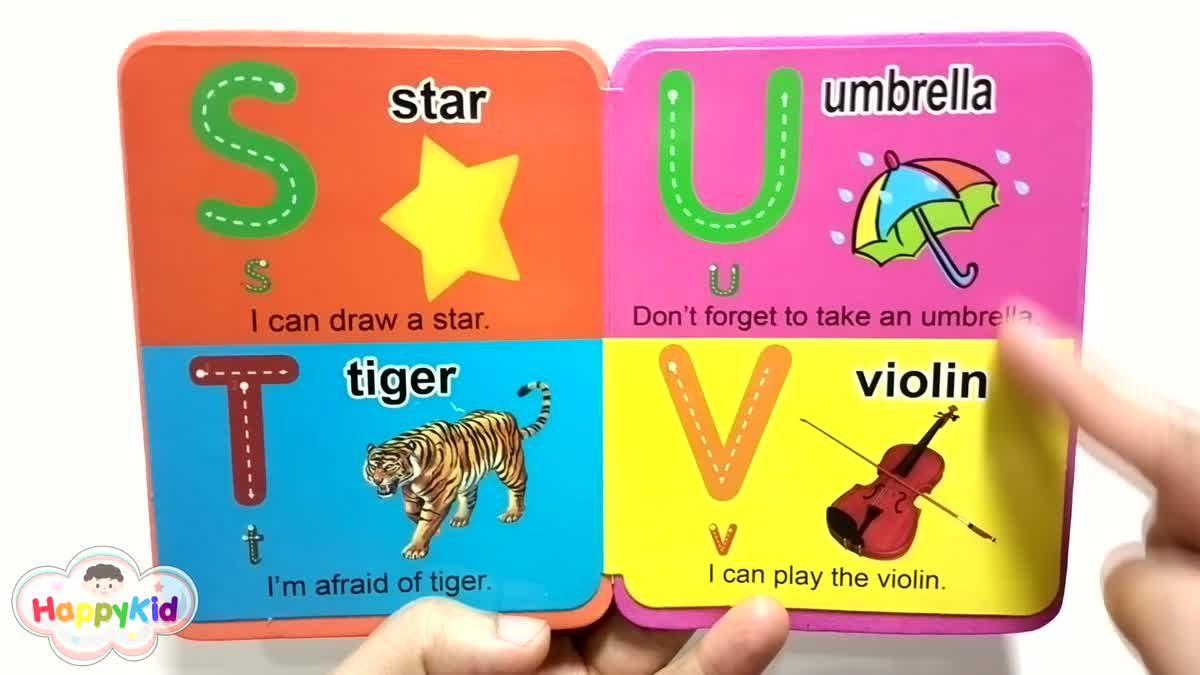 หนังสือ ABC | เรียนรู้ A-Z | อ่าน ABC | ท่อง A-Z | Learn Alphabet with Alphabet Book