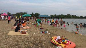 กินลม ชมวิว เล่นน้ำ ณ หาดเติมรัก ทะเลน้ำจืดแห่งแรกของ จ.นนทบุรี