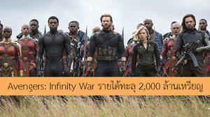 Avengers: Infinity War ทำรายได้รวมจากทั่วโลกแตะหลัก 2,000 ล้านเหรียญ