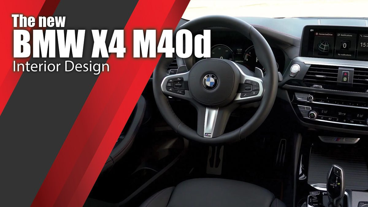 The new BMW X4 M40d Interior Design