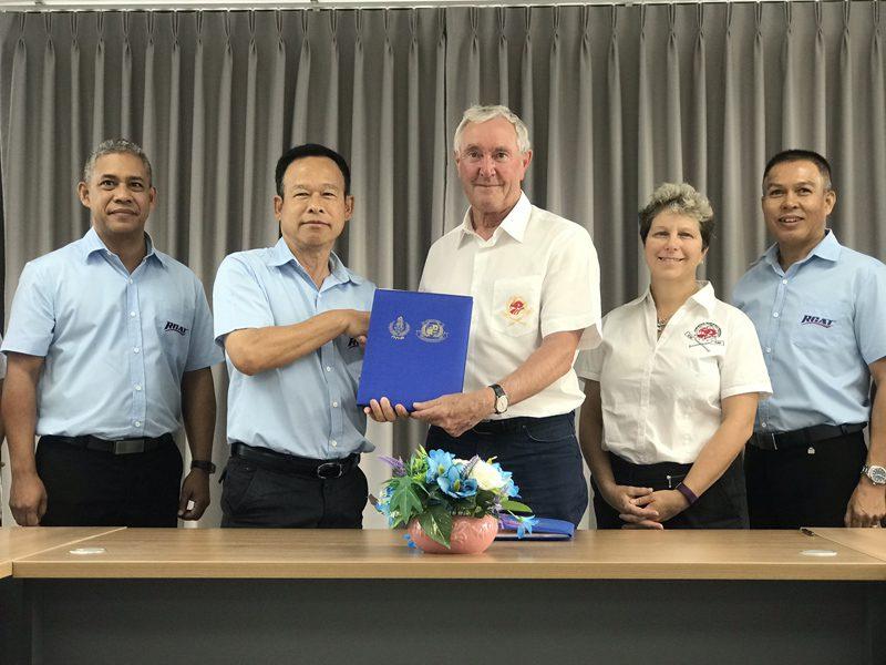 """สมาคมกีฬาเรือพายแห่งประเทศไทย เซ็นสัญญา สหพันธ์เรือมังกรนานาชาติ จัดการแข่งขัน """"เรือยาวมังกรชิงแชมป์โลกครั้งที่ 14"""""""