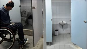 สั่งแก้ไขทันที หลังภาพว่อนเน็ตห้องน้ำคนพิการ มีแผงปูนกั้น