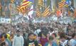 ชาวกาตาลันชุมนุมครบรอบ 1 ปี การลงประชามติแยกตัวจากสเปน