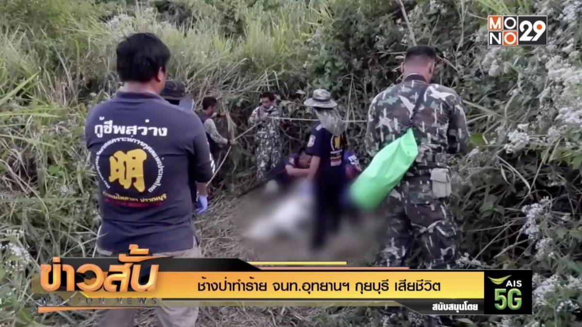 ช้างป่าทำร้าย จนท.อุทยานฯ กุยบุรี เสียชีวิต