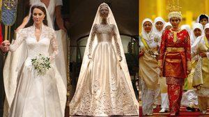 7 ชุดเจ้าสาวราชวงศ์ จากพิธีอภิเษกสมรส ที่แพงที่สุดและตราตรึงใจตลอดกาล