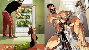 ศิลปินวาดภาพ ตีแผ่ชีวิตพ่อบ้านใจกล้า ที่คนมีครอบครัวย่อมเข้าใจหัวอก