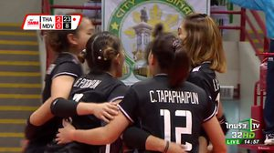 งานสบาย! ลูกยางสาวไทย ชนะ มัลดีฟส์ 3 เซตรวด ประเดิมชิงแชมป์เอเชีย