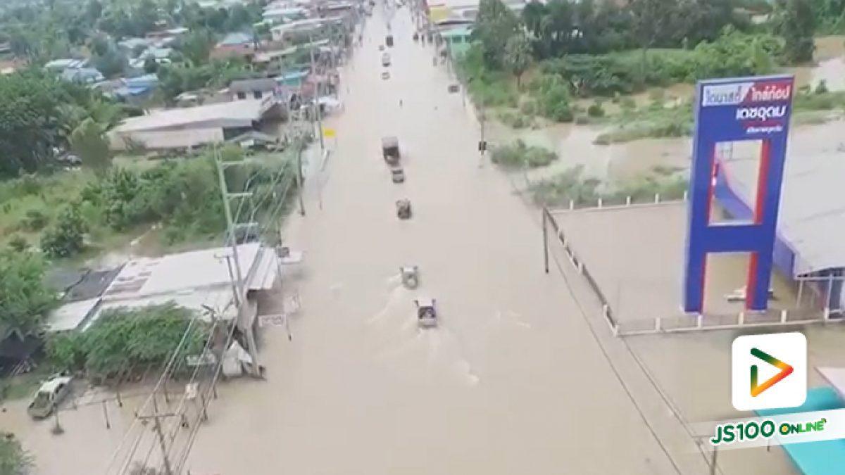 กรมทางหลวง รายงานสถานการณ์น้ำท่วม 7 ก.ย. 62 พบน้ำท่วม 6 จังหวัด จำนวน 19 สายทาง ผ่านไม่ได้ 14 แห่ง