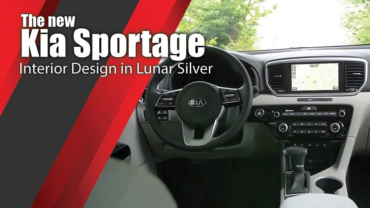 The new Kia Sportage Interior Design in Lunar Silver