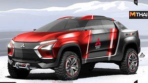 เรนเดอร์ Mitsubishi Ute รถกระบะยุคใหม่ ต้นแบบ Mitsubishi Triton ในอนาตค