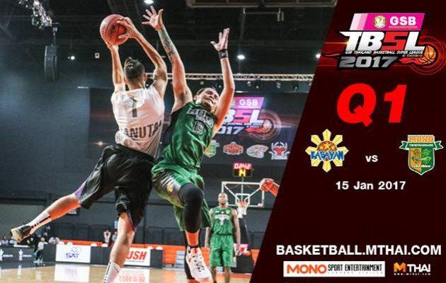 การแข่งขันบาสเกตบอล TBSL2017 คู่ที่4 Kabayan (Philipine) VS Mono Thew Q1  15/01/60
