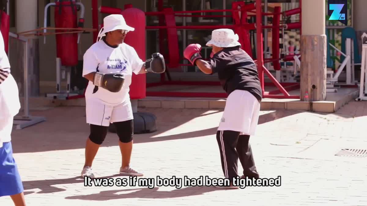 60+ only in South Africa's Gogo boxing gym
