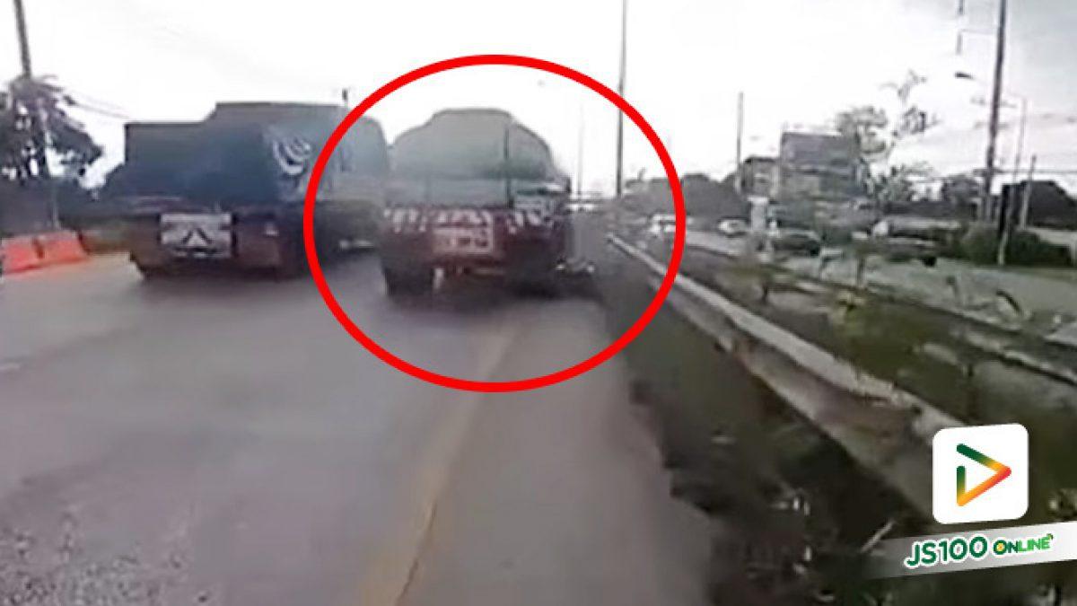 รถบรรทุกเบียดชนจยย.เสียหลักล้ม ก่อนถูกทับซ้ำ เสียชีวิต