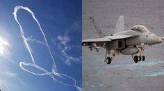 นักบิน EA-18G Growler สุดห่าม วาดรูป กระปู๋ บนท้องฟ้า จนกองทัพต้องออกโรงเพื่อขอโทษ