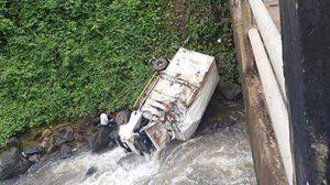 รถตกสะพานที่เมืองปากช่องประเทศลาว เสียชีวิต 1 ศพ