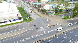 หัวหินเริ่มเข้าสู่ภาวะปกติ หลังฝนหนักทำน้ำท่วมขังสูง