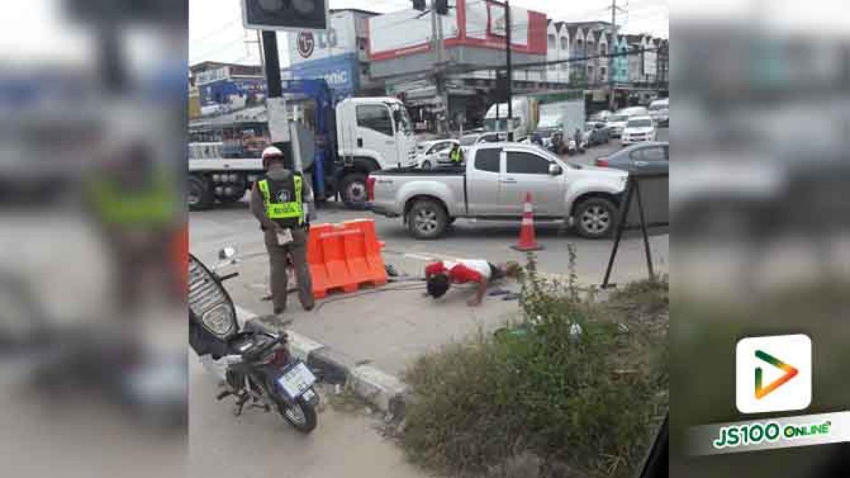 คลิปคุณตำรวจจับจักรยานยนต์ไม่สวมหมวกกันน็อคไม่ปรับแต่ทำแบบนี้ (19-06-61)