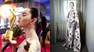 ใหม่ ดาวิกา หยิบเดรสจากแบรนด์ไทย ขึ้นรับรางวัล Asia Model Festival 2017