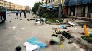 จีนเปิดภาพสะเทือนขวัญ ! ชี้เป็นการสู้รบกับลัทธิก่อการร้ายใน 'ซินเจียง'