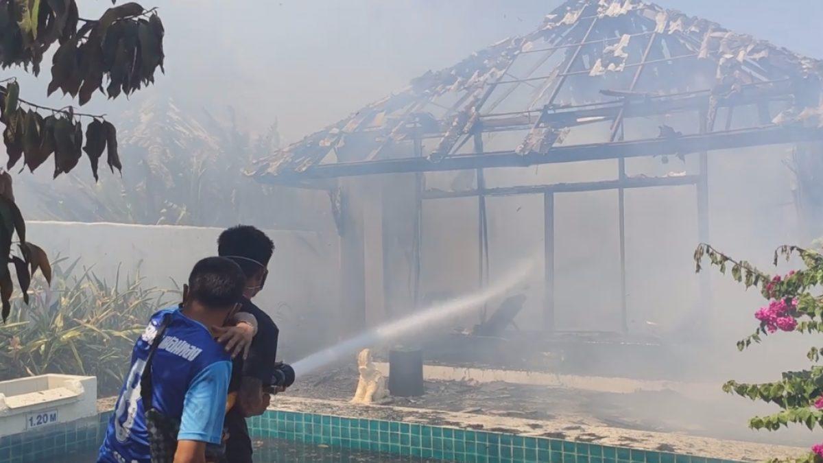 ไหม้ซ้ำ!! ไฟไหม้หญ้าลุกลามเข้าเทวัญดารารีสอร์ท ฯ หัวหิน รอบ 2 ห้องพักเสียหายหลายสิบห้อง (16-05-2563)