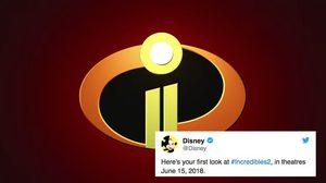 ดิสนีย์ปล่อยภาพแรกจากภาพยนตร์แอนิเมชั่น Incredibles 2 ลงทวิตเตอร์