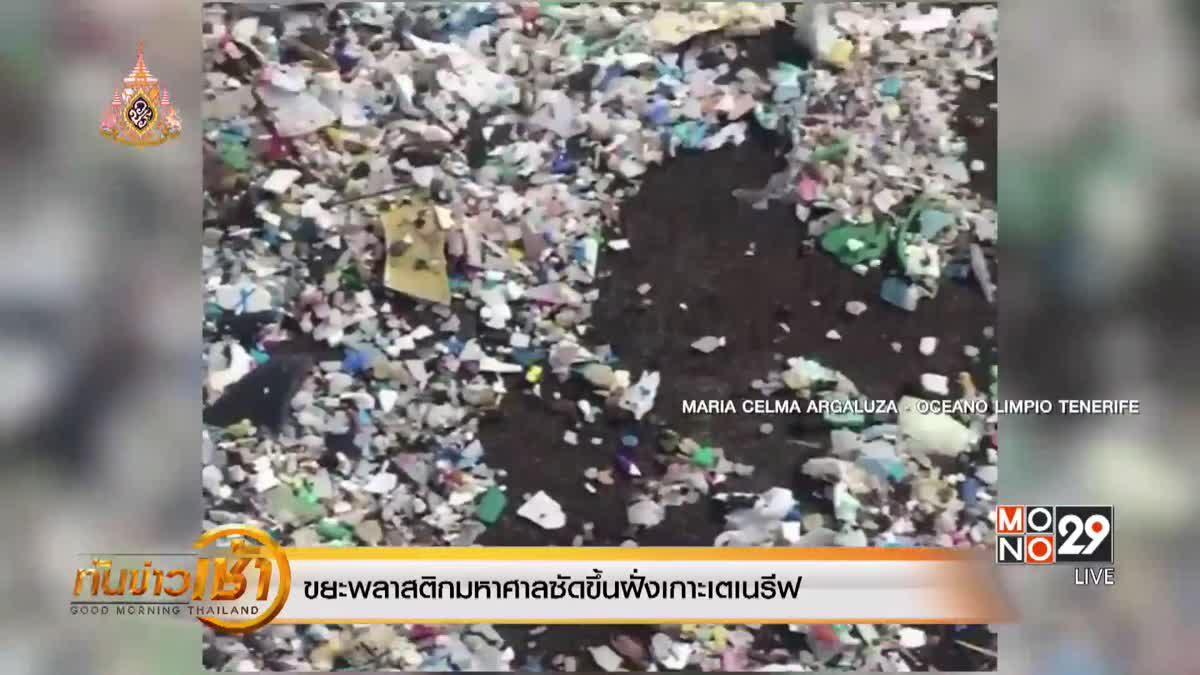 ขยะพลาสติกมหาศาลซัดขึ้นฝั่งเกาะเตเนรีฟ