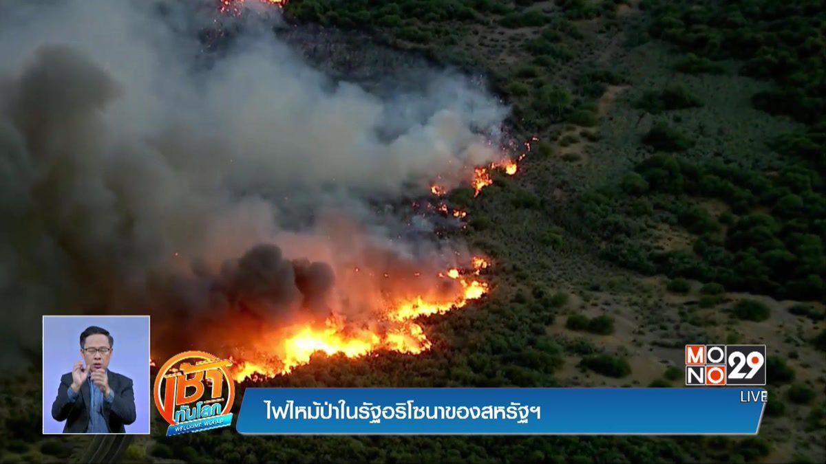 ไฟไหม้ป่าในรัฐอริโซนาของสหรัฐฯ