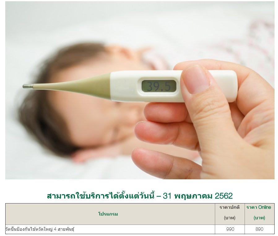 ฉีดวัคซีนไข้หวัดใหญ่