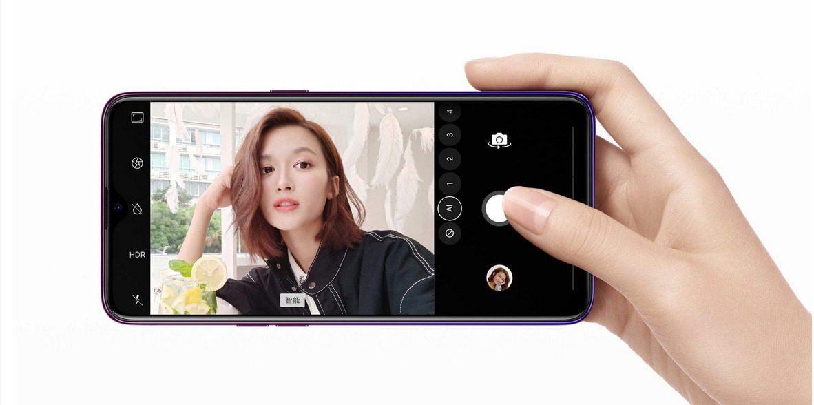 กล้องหน้าของ Oppo A7x