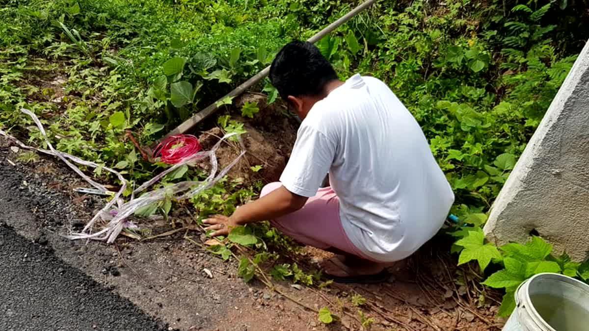 ชื่นชม!! หนุ่มเมืองคอน ช่วยลูกหมา 4 ตัว ถูกนำมาทิ้งในหลุมริมถนน