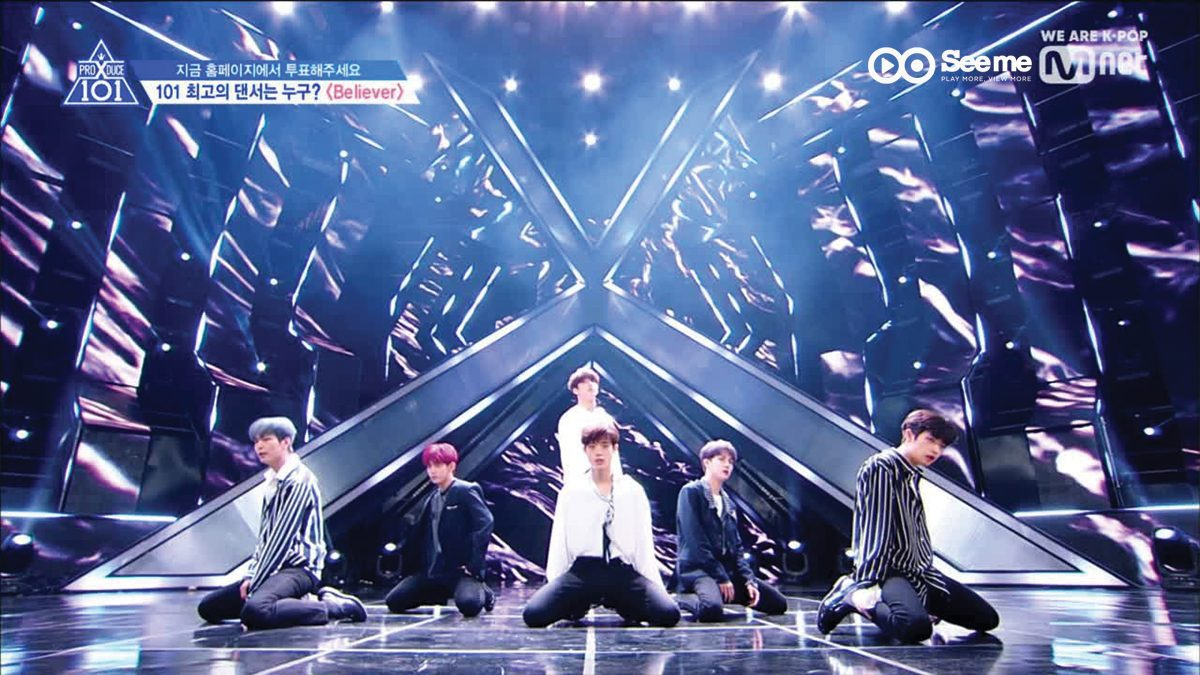 [THAI SUB] PRODUCE X 101 ㅣทีม 늑대소년 - Imagine Dragons ♬Believer @การแข่งขันรอบ Position [EP.7]