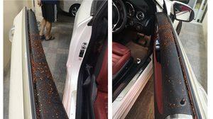 เตือนระวัง คนร้ายทำทีขี่จยย. ถามทางสาวขับรถหรู ก่อนสาดพริกป่นผสมน้ำใส่หน้า