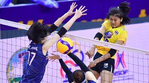 น่าเสียดาย! ลูกยางสาว ทีมชาติไทย พ่ายโสมขาว 0-3 เซต ชวดตั๋วสุดท้ายลุยโอลิมปิก 2020