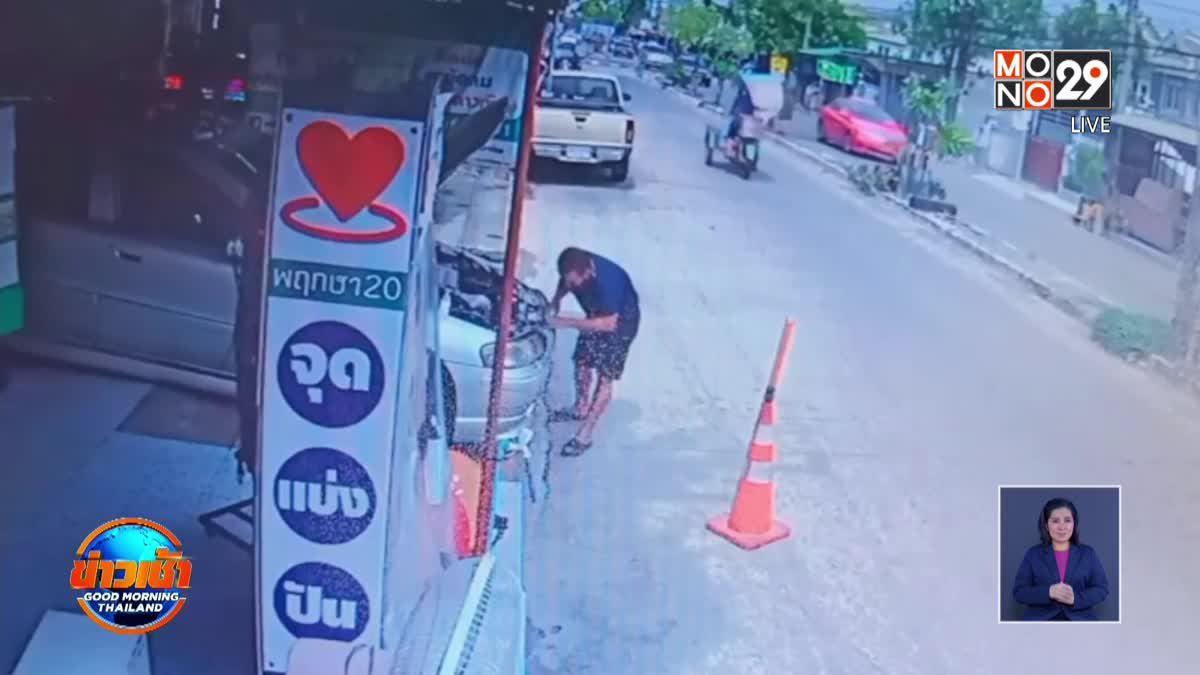 ช่างซ่อมรถยนต์เตือนภัยหลังถูกฝากระโปรงรถหล่นใส่