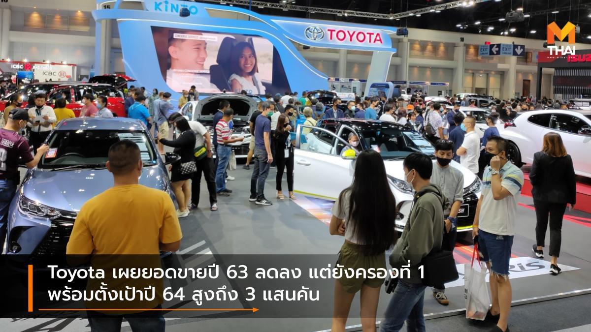 Toyota เผยยอดขายปี 63 ลดลง แต่ยังครองที่ 1 พร้อมตั้งเป้าปี 64 สูงถึง 3 แสนคัน