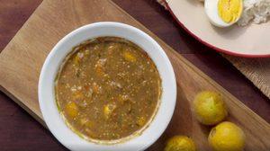 สูตร น้ำพริกมะอึก เมนูบ้านๆ กินกับไข่ต้มและผักแนมคือเลิศมาก