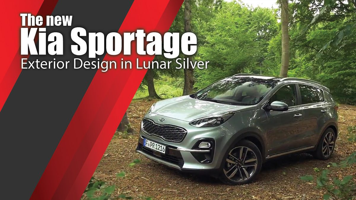 The new Kia Sportage Exterior Design in Lunar Silver