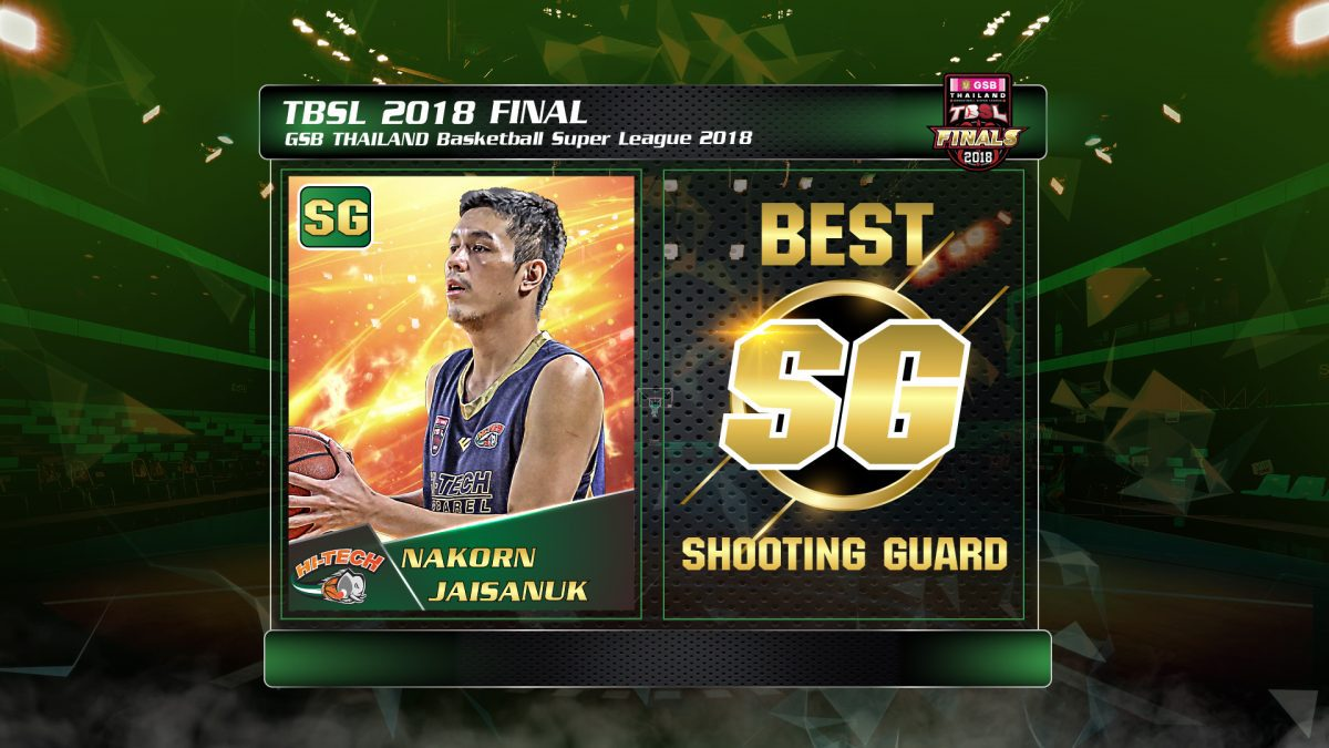 Best Shooting Guard (SG) GSB Thailand Basketball Super League 2018 (Local) : Nakorn Jaisanuk