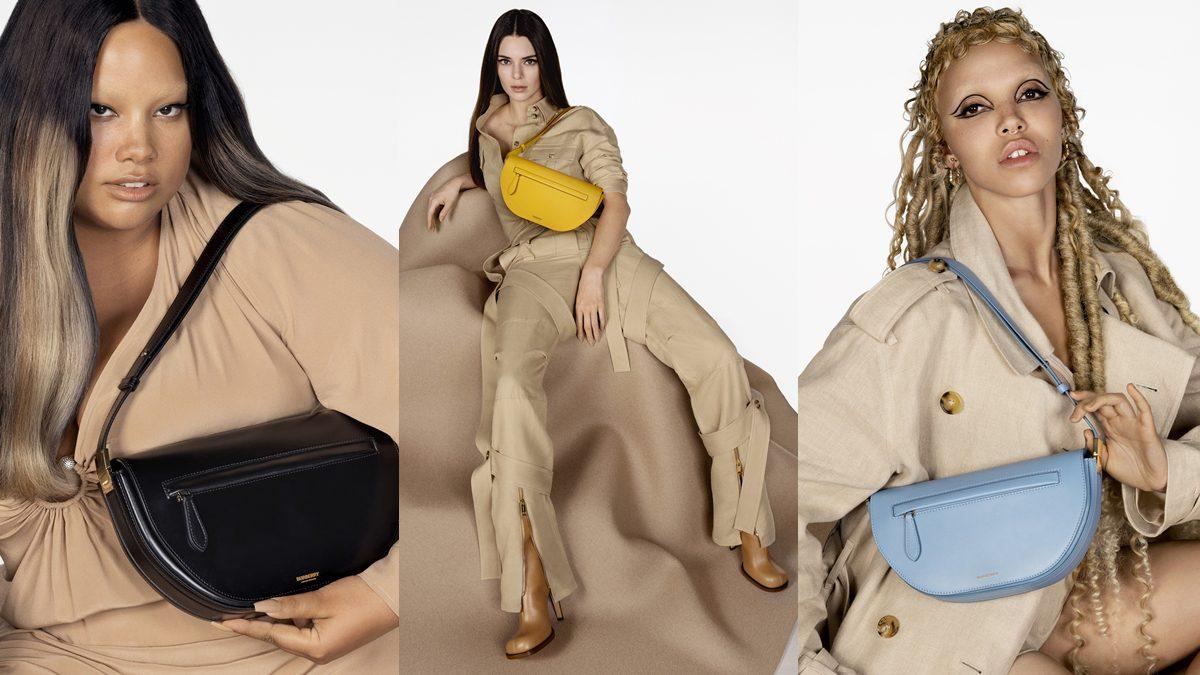 Burberry เปิดตัวแคมเปญกระเป๋า The Olympia ได้  Kendall Jenner, FKA twigs และ Shygirl มาร่วมถ่ายทอดความคลาสสิก
