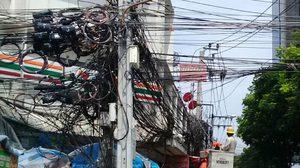 หวั่นเกิดอุบัติเหตุ!! การไฟฟ้านครหลวงเดินหน้า จัดระเบียบสายสื่อสาร