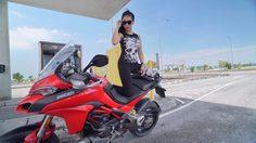 สาวแอนนี่ ปริศนา สาธิตการกลับรถในที่แคบกับรถ Ducati Multistrada 1200 S
