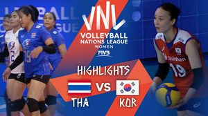 คลิปไฮไลท์ ไทย vs เกาหลีใต้ วอลเลย์บอลหญิง เนชันส์ลีก 2021