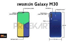 เผยข้อมูล Galaxy M30 กับสเปคแรงกล้องหลัง 3 ตัว