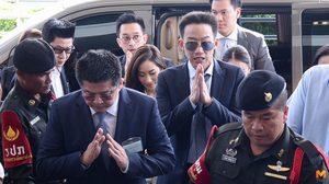 """""""โอ๊ค พานทองแท้"""" เผยตื่นเต้น ลุ้นตัดสินคดีฟอกเงินกรุงไทย 10 ล้าน"""