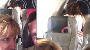 บรรยากาศมันได้!! หนุ่มสาวโชว์ลีลา โล้สำเภา กันกลางเวหาระหว่างเที่ยวบินไปเม็กซิโก